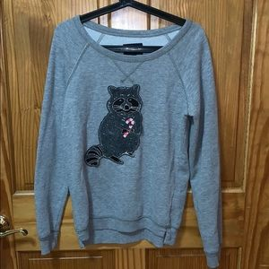 American Eagle Cute gray Christmas sweater